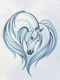 """Le régime broderie """"cheval blanc"""" - Plans auteur «Kozyavochka» - Point de Croix:"""