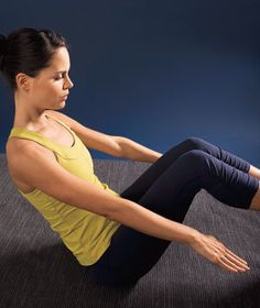 Model doing core workout | Tone your core with a 15-minute workout, three or four times a week.