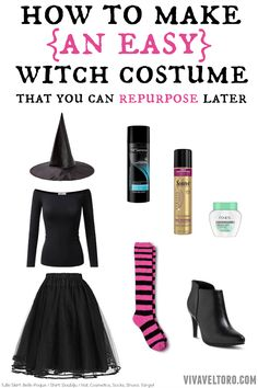 How to make an easy DIY witch costume that you can repurpose later! #GetHalloweenReady AD