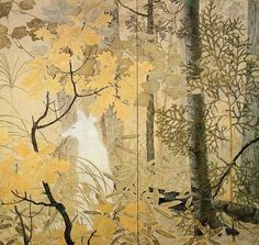 White Fox (1914) by Kanzan Shimomura