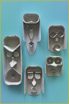 I can not remember how funny these faces are from … – DIY with Kids – Recycling Egg Carton Art, Egg Carton Crafts, Egg Cartons, Diy With Kids, Fun Crafts, Arts And Crafts, Funny Crafts For Kids, Funny Kids, Recycled Art Projects
