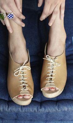 lace up clogs via plumo