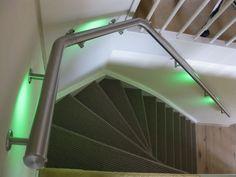 RVS trapleuningen met Lumigrip Mood systeem | LED illuminated handrail