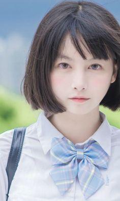 Beautiful Japanese Girl, Japanese Beauty, Beautiful Asian Girls, Asian Beauty, Asian Short Hair, Girl Short Hair, Cute Asian Girls, Cute Girls, Arte 8 Bits