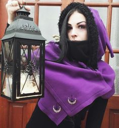 Witch Hat Cookies, Autumn Witch, Winter Cape, Witchy Outfit, Elf Hat, Hooded Scarf, Dark Elf, Stuff And Thangs, Polar Fleece