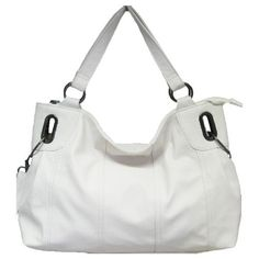 Minerva Collection Large Fashion Shoulder Handbag White  Price : £17.00 http://www.minervacollection.com/Minerva-Collection-Fashion-Shoulder-Handbag/dp/B001IX8AUK