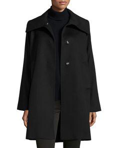 The Jane Cashmere Coat, Black, Women's, Size: S - Jane Post