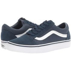 Vans Old Skool ((Suede) Teal/True White) Skate Shoes featuring polyvore, women's fashion, shoes, suede leather shoes, suede skate shoes, white lace up shoes, shock absorbing shoes and traction shoes