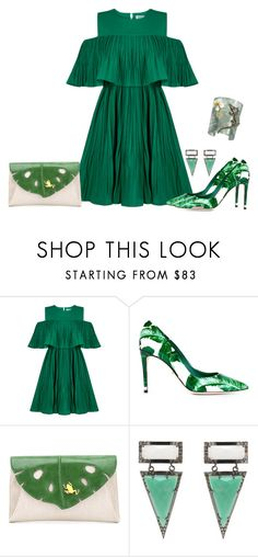 """Fresh"" by margaretkellogg ❤ liked on Polyvore featuring Jovonna, Dolce&Gabbana, Charlotte Olympia, ADORNIA, Misis, polyvorecommunity and GreenandWhite"