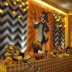 Tom y Jerry - Dale Detalles Kids Birthday Themes, Cars Birthday Parties, Birthday Treats, Birthday Party Decorations, Wedding Decorations, 7th Birthday, Tom Und Jerry, Tommy Jerry, Party Organization