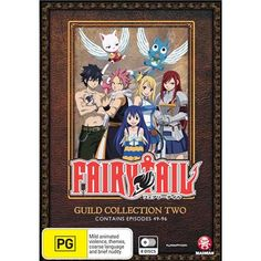 Fairy Tail Guild - Collection 2 DVD. Contains episodes 49-96.