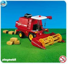 Playmobil Harvester by Playmobil. $44.99. This item is part of the Direct Service range. This range of products are intended as accessories for or additions to existing Playmobil sets. For this reason these items come in clear plastic bags or brown cardboard boxes instead of a colorful retail box.. Please Note: This item is part of the Direct Service range. This particular range of products are intended as accessories and / or additions to existing Playmobil sets. For this reason...