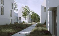 Residential Complex, Brick Facade, Multi Family Homes, Drupal, Imagines, Urban Design, Habitats, Interior Architecture, Townhouse