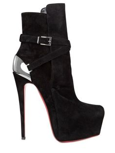 CHRISTIAN LOUBOUTIN - 160MM EQUESTRIA SUEDE STRAPS BOOTS