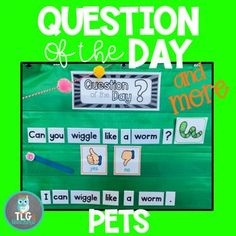 Question of the Day and More-BUGS by Andrea Miller Reading Strategies, Reading Activities, Reading Skills, Beach Theme Preschool, Preschool Themes, Writing Center Preschool, Making Words, Dramatic Play Centers, Inspired Learning