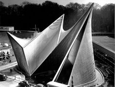 Here is the Phillips Pavilion Le Corbusier designed for the Brussels World's Fair in 1958.