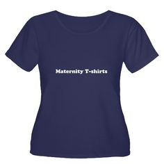 Women's Plus Size Scoop Neck Maternity T-Shirts