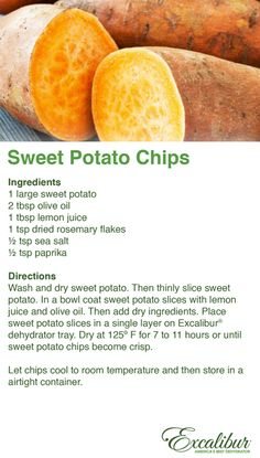 Serve this tasty & snack at your - Rosemary Sweet Potato Chips! Canning Recipes, Raw Food Recipes, Veggie Recipes, Snack Recipes, Jar Recipes, Freezer Recipes, Freezer Cooking, Drink Recipes, Cooking Tips