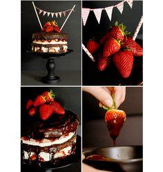 Chocolate-Strawberry-Cake {Schoko-Erdbeer-Torte}