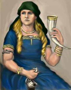 The golden-haired wife of the god Thor. There is not much known about her, except that she could originally have been a fertility goddess