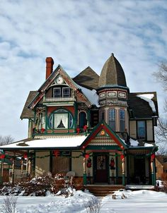 Victorian House - the round window reminds me of the half-circle window on Meet Me in St. Louis!