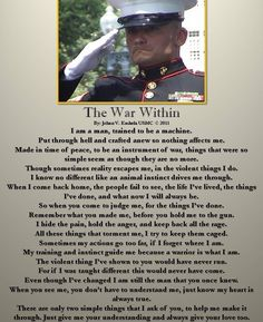 Once you go to war you are never the same again. God bless Military Men and Women, and Semper Fi Marine Quotes, Usmc Quotes, Military Quotes, Military Humor, Military Life, Military Terms, Navy Military, Military Art, Military History