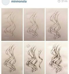 Wavy hair   Minmonsta