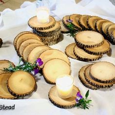 rustic outdoor wedding coasters / table decoration I want to go to there. Rustic Coasters, Wedding Coasters, Mason Jar Centerpieces, Mason Jars, Rustic Centerpieces, Wedding Centerpieces, Just In Case, Just For You, Wedding Party Favors