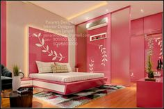 Pinkish Bedroom Cupboard Designs, Wardrobe Design Bedroom, Bedroom Cupboards, Bedroom Bed Design, Bedroom Furniture Design, Modern Bedroom Design, Home Room Design, Room Interior Design, Kids Room Design
