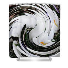 Crocus Swirl 3 Shower Curtain  http://pixels.com/products/crocus-swirl-3-sarah-loft-shower-curtain...  #showercurtains #sarahloft #digitalart #digital #abstract