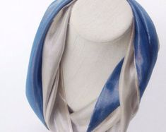 Sparkly infinity Blue scarf, Birthday gift idea for Mother, Last minute gift for Coworkers, Solid Blue Scarf,  Men neck Scarves by blingscarves. Explore more products on http://blingscarves.etsy.com