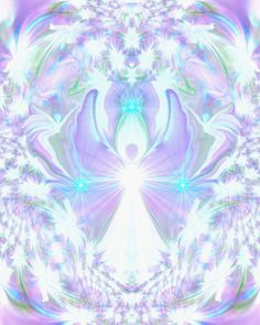 Crown Chakra Art Angel Wall Decor Reiki Healing Energy Art Violet White 8 x 10 Print