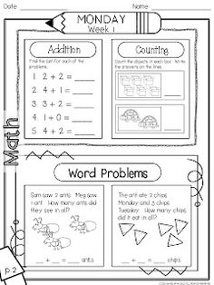 1st Grade Morning Work (1st 9 weeks) - includes 90 pages (45 language arts/45 math). 6 pages of the packet are free in the preview file. $