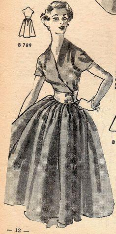 The 1950s-1952 Bonnes soirées-Autumn fashion,