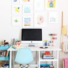 Tips and tricks for getting your craft room/home office organized and clean!