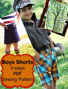 boys shorts pattern