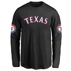 Youth Texas Rangers Design Your Own Long Sleeve T-Shirt