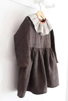Sweet Handmade Linen Dress | twopointscouture on Etsy