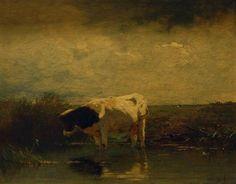 Koe in weide Anton Mauve.