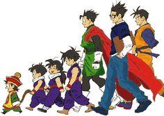 Evolution of Gohan