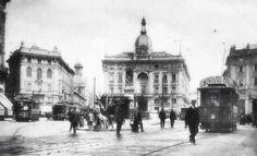 Piazza Cordusio agli inizi del novecento