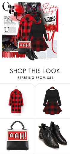 """YOINS BLACK SKATTER DRESS"" by lacas ❤ liked on Polyvore featuring Les Petits Joueurs and yoins"