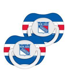 Look at this #zulilyfind! New York Rangers Pacifier - Set of Two #zulilyfinds