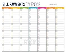 free printable monthly bill payment log shared by