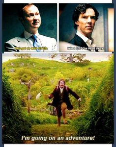 I can't stop laughing. #Sherlock #Hobbit