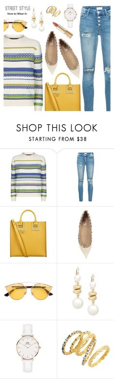 """Street Style"" by dressedbyrose ❤ liked on Polyvore featuring Weekend Max Mara, Mother, Sophie Hulme, Valentino, Christian Dior, Saks Fifth Avenue, Daniel Wellington, Freida Rothman, Dolce&Gabbana and StreetStyle"
