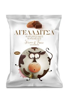 milk candy packaging by mousegraphics, illustration by Andra Popovic - found via…