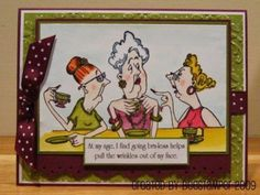 Gossip Club women. Sells for 11.79.  Words are sold separately.   Made by Art Impressions  Rubber Stamps. You can purchase these from my ebay store Pat's Rubber Stamps & Scrapbooks, Click on the picture here to see the listing , or call me 423-357-4334 with order, . We take PayPal. You get free shipping with the phone orders of $30.00 or more. Use my search engine to find all items you are interested in.