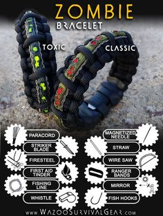 Wearable survival kits engineered to save lives. Style meets function in this emergency survival gear designed to last a lifetime.