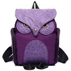 Trendy Women's Satchel With Owl Shape and Solid Color Design